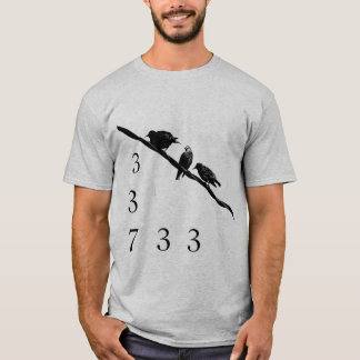 337 birds on a wire T-Shirt