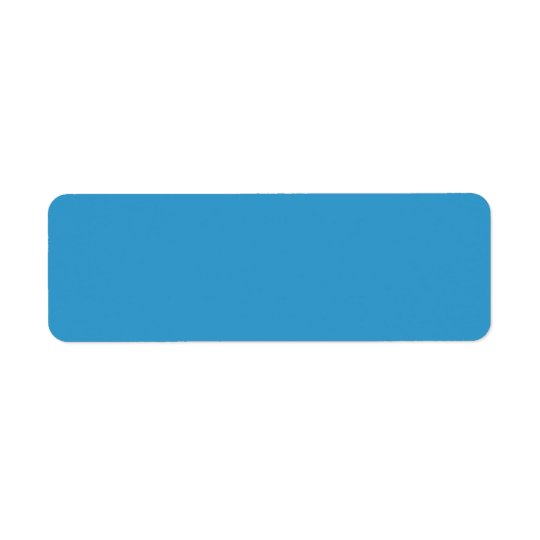 3399CC Blue Solid Colour Background Template Return Address Label