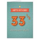 33 1/3 amazing years card