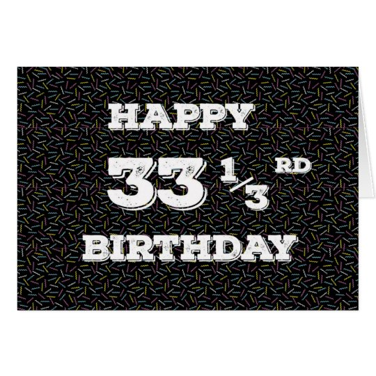 33 1/3 birthday squiggles card