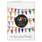 33 1/3 bunting flags card