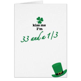 33 1/3 kiss me card