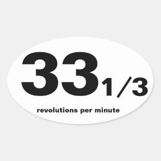 33 1/3 rpm parody marathon sticker long play