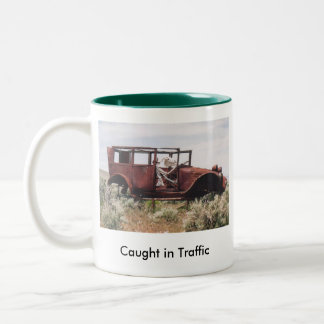 33. 300-100 Caught in Traffic 5-03, 33. 300-100... Two-Tone Coffee Mug
