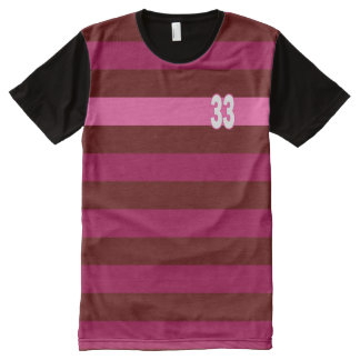 33 Lines Pink Maroon Modern Shirt