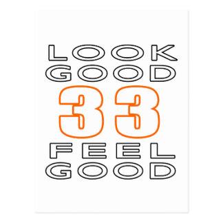33 Look Good Feel Good Postcard
