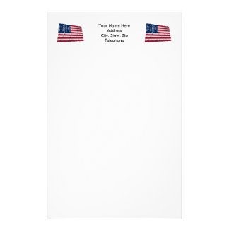 33-star flag, Fort Sumter garrison pattern Personalized Stationery