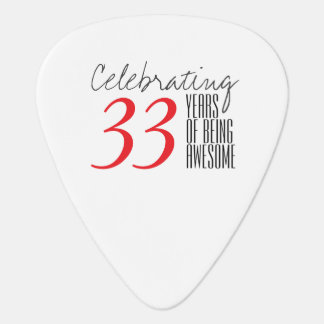 33 years of being awesome guitar pick