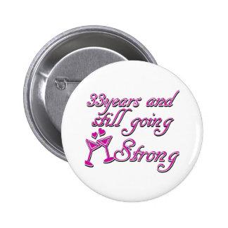 33rd wedding anniversary button