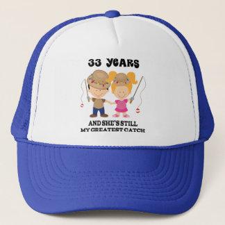 33rd Wedding Anniversary Gift For Him Trucker Hat