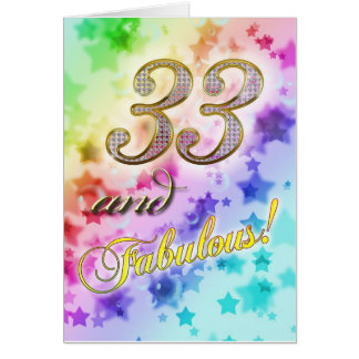 33rdt birthday for someone Fabulous Card