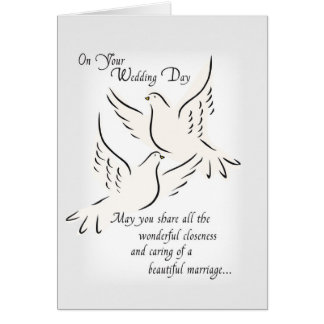 3427 Wedding Doves, Religious Card