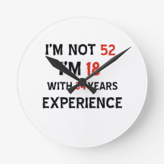 34 birthday design wall clock