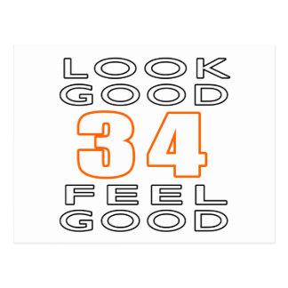 34 Look Good Feel Good Postcard