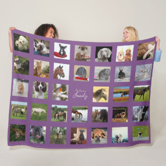 34 Photo Collage Blanket - CAN EDIT COLOR