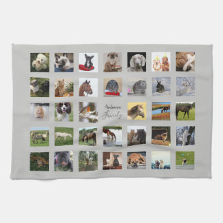 34 PHOTO COLLAGE Can EDIT COLOR - ANY Occasion Kitchen Towel