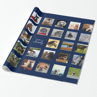 34 PHOTO COLLAGE Gift Wrap - Can EDIT Color