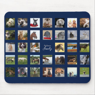 34 PHOTO COLLAGE Mousepad - Can EDIT COLOR