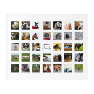 34 PHOTO COLLAGE with TEXT Keepsake - ANY Occasion Acrylic Print