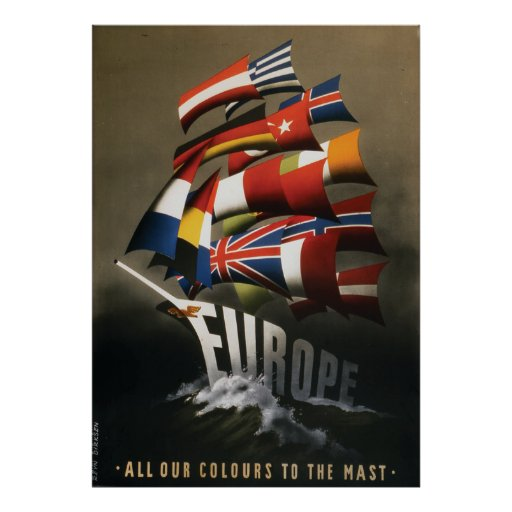 34x48 poster promoting the Marshall plan, 1947