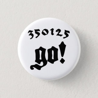 350125 Go! 1 Inch Round Button