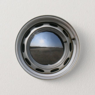 356 Classic car wheel (rim) with chrome hubcap 2 Inch Round Button