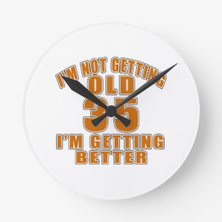 35 I Am Getting Better Wall Clock