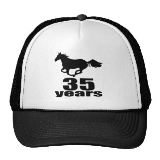 35 Years Birthday Designs Trucker Hat