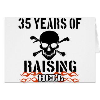 35 years of raising hell card