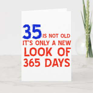 35 Years Old Birthday Designs Card