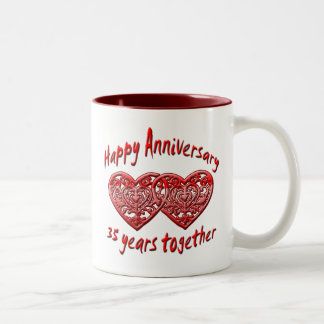 35 Years Together Two-Tone Coffee Mug