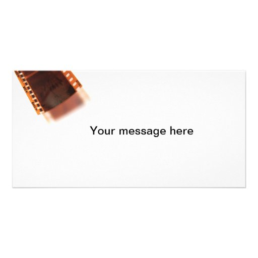 35mm color filmstrip and shadow photo greeting card