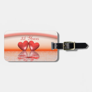 35th Anniversary Coral Hearts Bag Tag