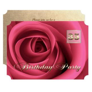 35th Birthday Celebration Custom Invitations