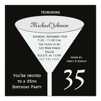 35th Birthday Party Invitation A Toast for 35