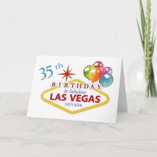 35th Las Vegas Birthday Card Standard 5