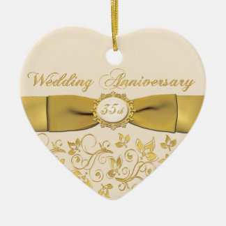 35th Wedding Anniversary Christmas Ornament