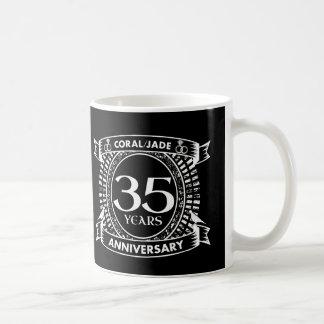 35th wedding anniversary Coral Jade crest Coffee Mug