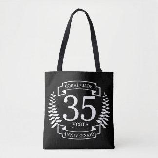 35th Wedding ANNIVERSARY JADE / CORAL Tote Bag