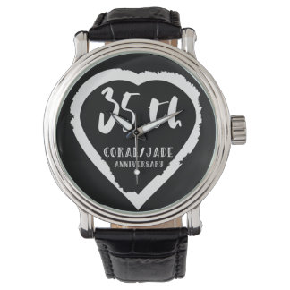 35th wedding anniversary traditional coral jade watch