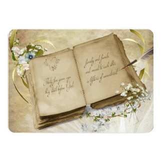 35th Wedding Anniversary Vintage Vow Renewal Card