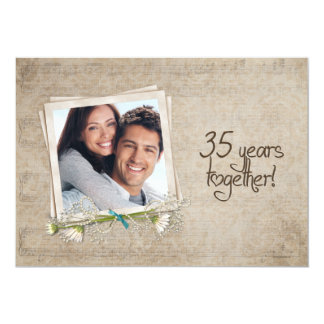 35th Wedding Anniversary Vow Renewal Card