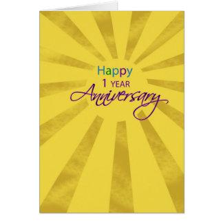3607   One Year Employee Anniversary Sun Card