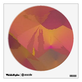 "360 Custom Wall Decal ""No Paradox"" Sunset Abstract"