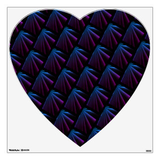 360 Wall Decal w/Heart Shape&PurpleBlue Colors