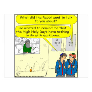 361 high holy days cartoon postcard