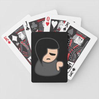 36578 EMO KID CARTOON ATTITUDE DEPRESSED BICYCLE PLAYING CARDS