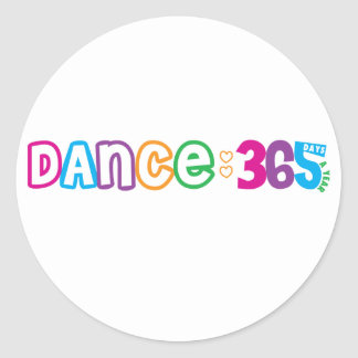 365 Dance Classic Round Sticker