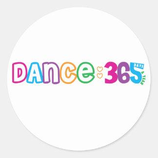 365 Dance Round Sticker