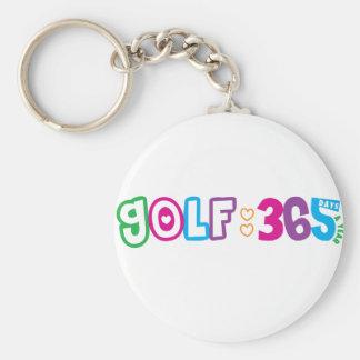 365 Golf Basic Round Button Keychain